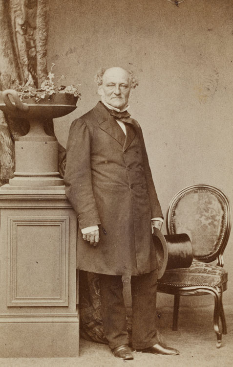 "Privy councillor Alexander Mendelssohn (1798–1871), purchaser of the painting ""Borussia"", Robert Jefferson Bingham (1824/1825–1870), Paris, ca. 1860/1865, Albumen print, cardboard, Berlin © private collection"