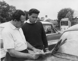 Fred and Peter Stein by car, 1963 © Peter Stein