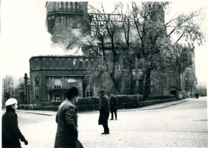 Leo Baeck Archives, Burning synagogue in Bamberg after Kristallnacht, Bamberg; Jewish Community Collection AR 2399, F 245