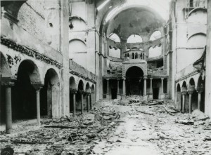 Leo Baeck Archives, Interior view of the destroyed Fasanenstrasse Synagogue, Berlin, burned on Kristallnacht Synagogues; Destroyed, Berlin; Jewish Community Collection AR 88 F, F 21324