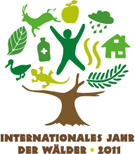 Logo  - Internationales  Jahr der Wälder