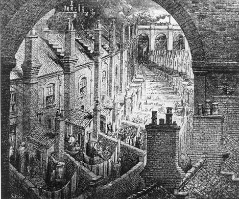 London Um 1870 Arbeitersiedlung
