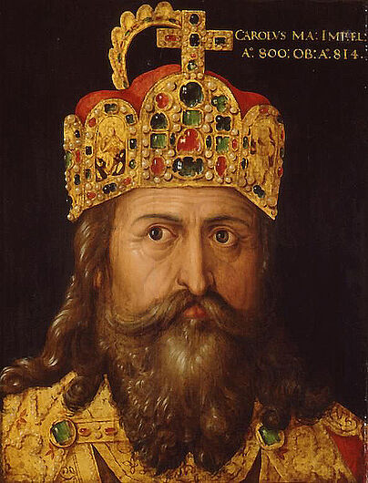Albrecht Dürer (studio), Idealized Portrait of the Emperor Charlemagne (800-814), 1514. (Inv.Nr. Gm 2003/8)