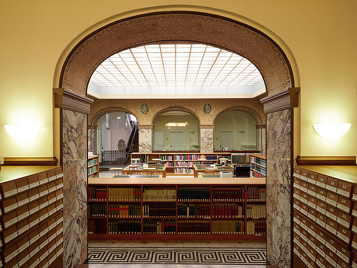 In the Library of the Deutsches Historisches Museum