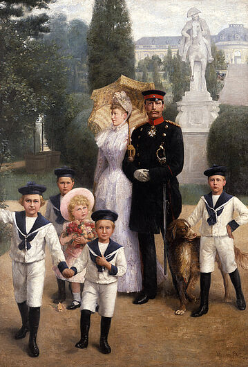 William Friedrich Georg Pape, The Imperial Family in Sanssouci Park, 1891. (Inv.Nr. 1988/424)