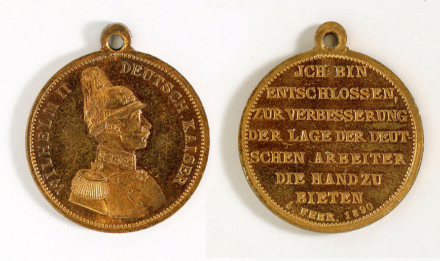 Portable Medal on the Labor Protection Legislation of 1890, 1890. (Inv.Nr. N 84/42)