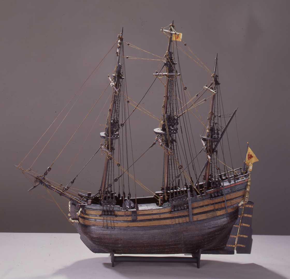 Model Ship Of A Lbeck Fluyt 1700 1900 1726