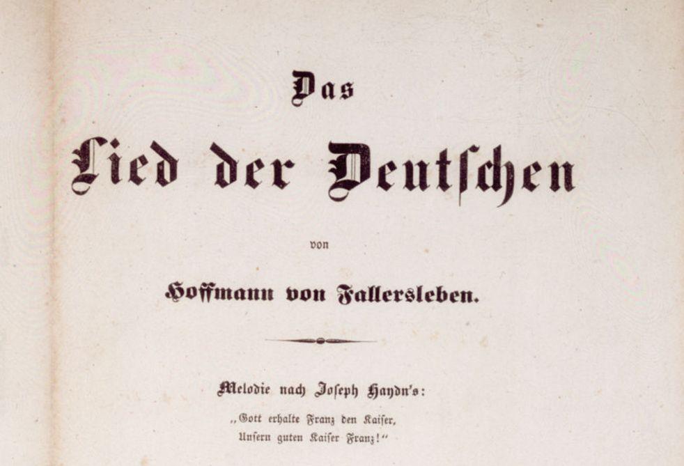 erstdruck des deutschlandlieds