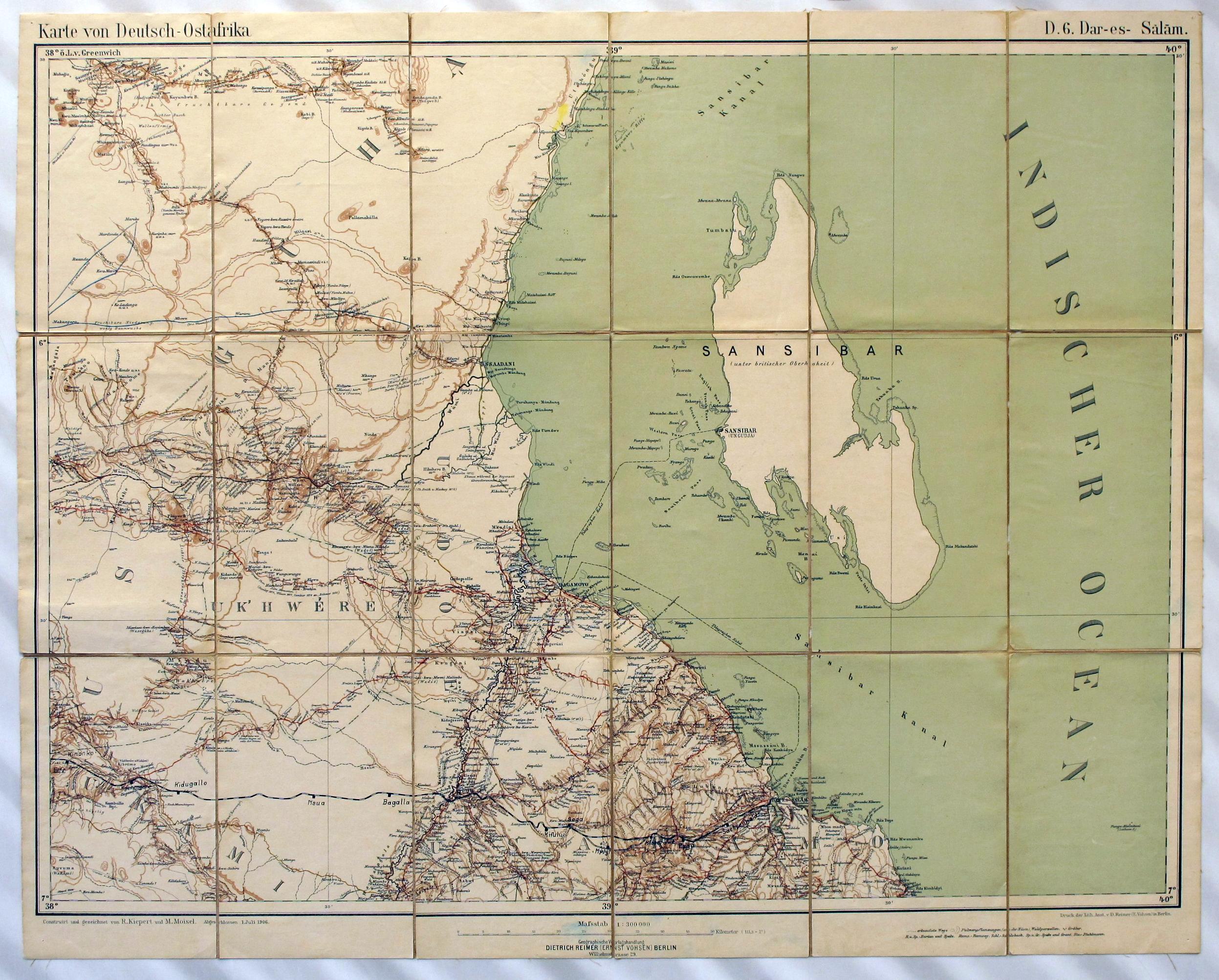 Landkarte Deutsch.Lemo Bestand Objekt Landkarte Von Deutsch Ostafrika 1906