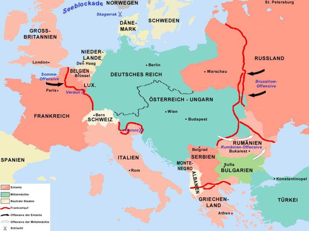 Arbeitsblatt Verlauf Erster Weltkrieg : Lemo kapitel erster weltkrieg kriegsverlauf