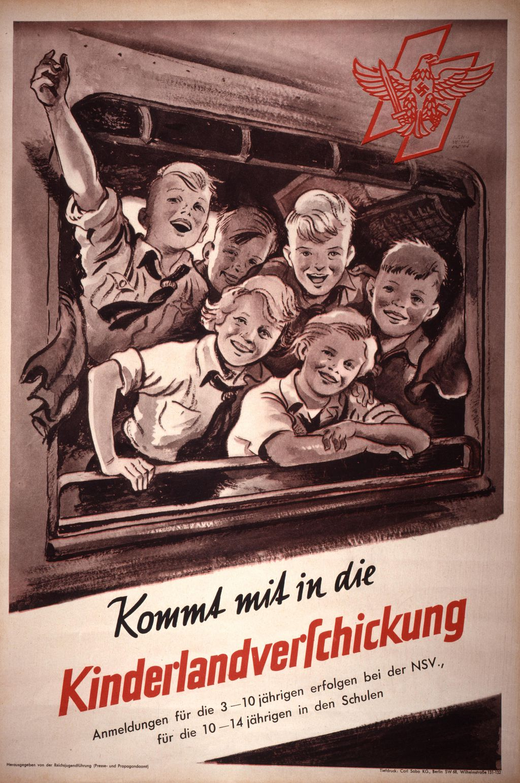 Plakat: Kinderlandverschickung, ab 1935