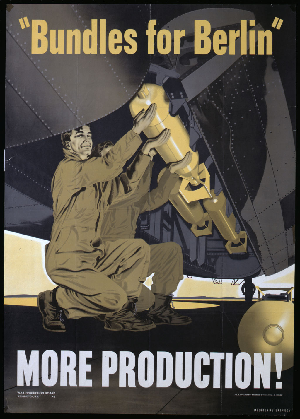 "Plakat: ""Bundles for Berlin - More Production!"", 1942"