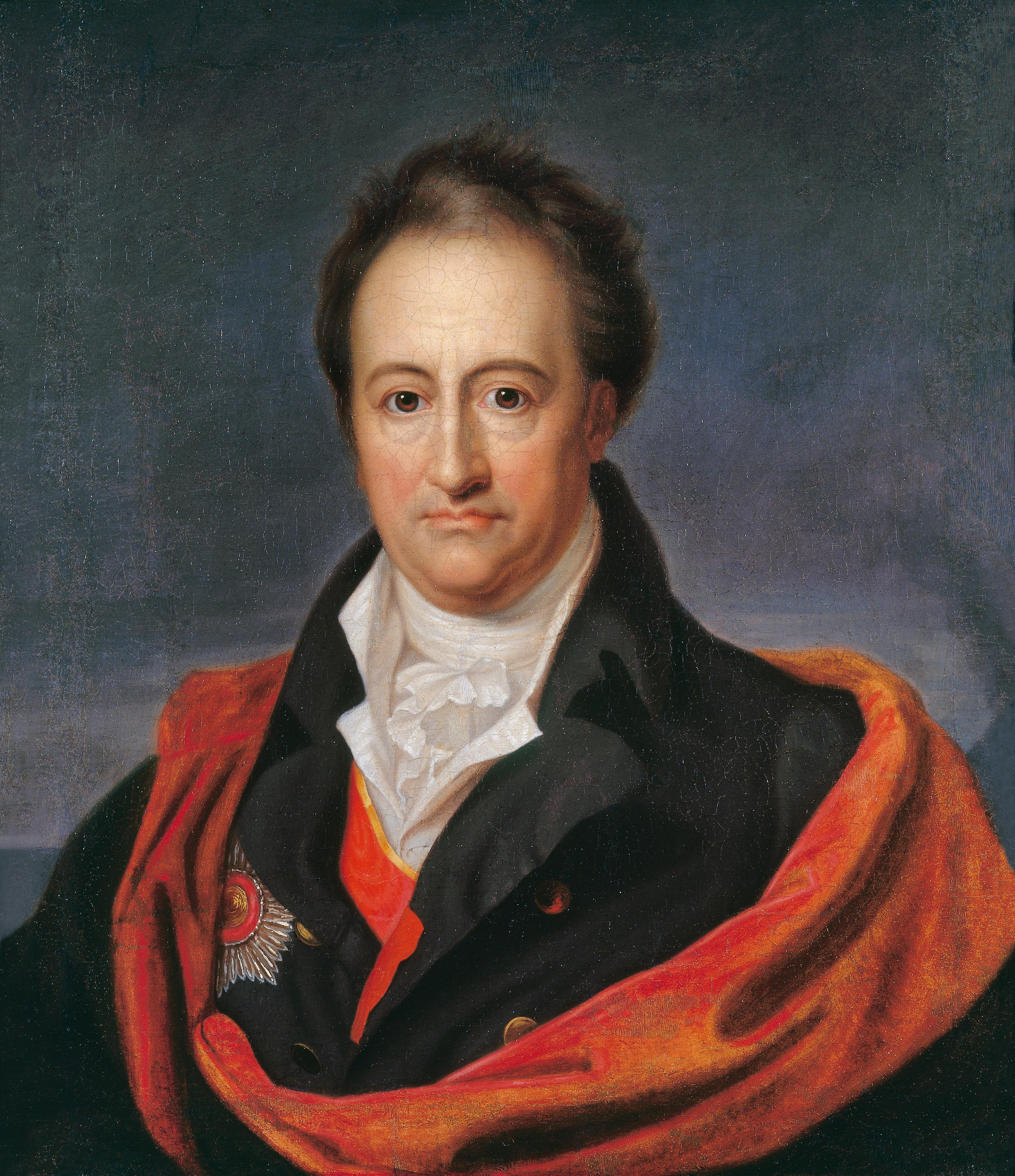 Bildnis Von Johann Wolfgang Von Goethe Im Alter Goethe Portrait