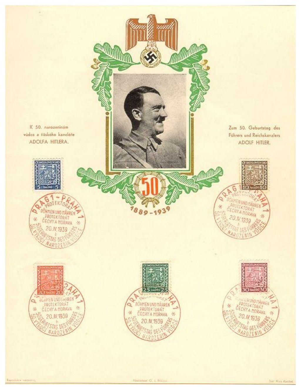 Lemo Bestand Objekt Schmuckblatt Zum 50 Geburtstag Von Adolf
