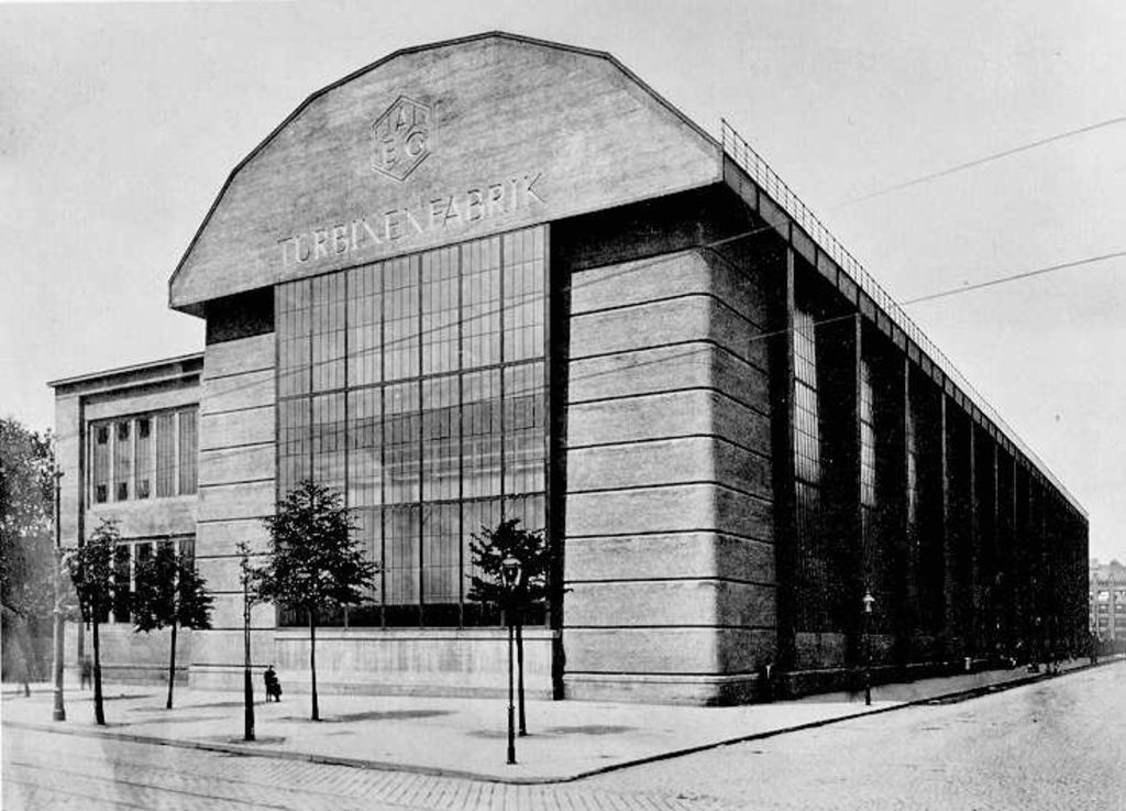 Exponat: Photo: AEG-Turbinenhalle, 1909