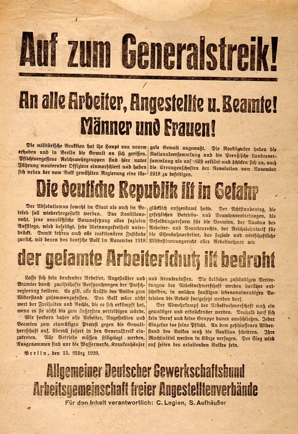 Generalstreik Deutschland