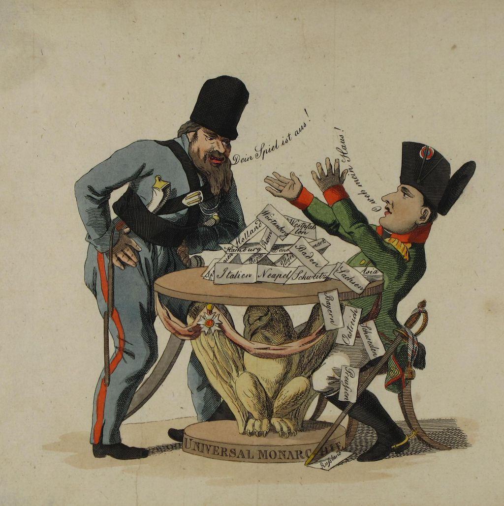 karikatur auf napoleons niederlage in russland 1812 - Napoleon Bonaparte Lebenslauf