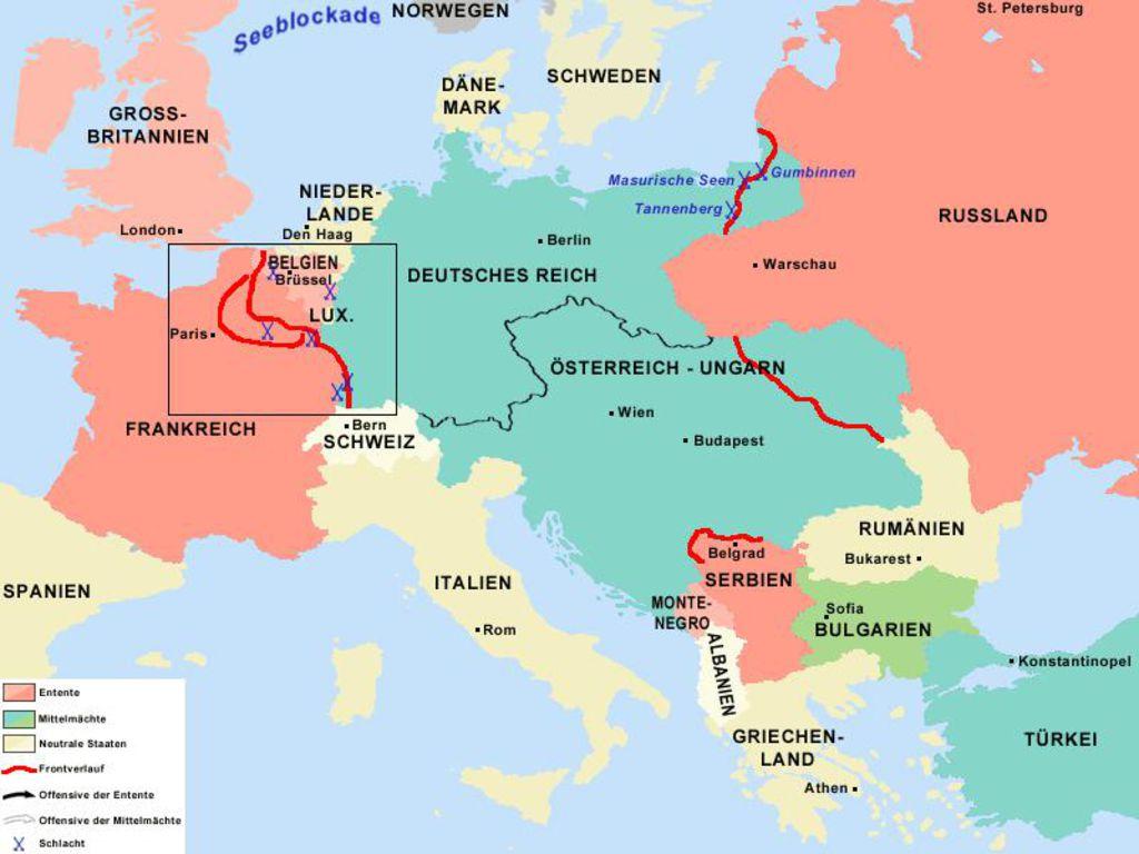 Karte Von Europa 1914.Lemo Bestand Objekt 1914