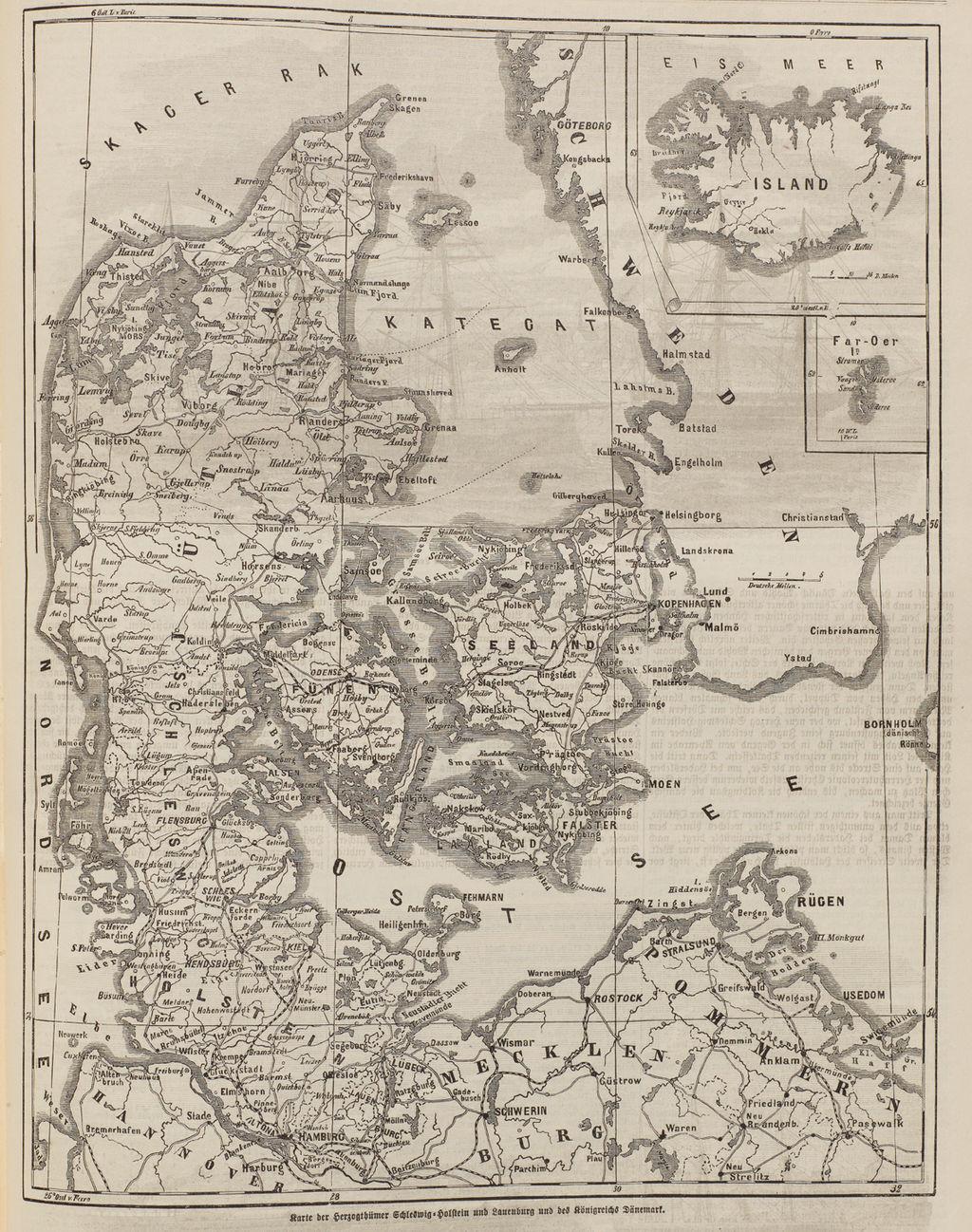 karte schleswig holstein dänemark LeMO Bestand   Objekt   Karte der Herzogtümer Schleswig Holstein