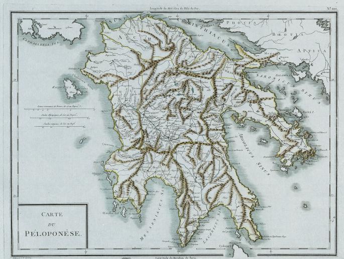 Peloponnes Karte.Lemo Bestand Objekt Karte Von Peloponnes Um 1825
