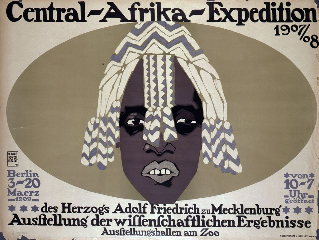 Exponat: Plakat: Central-Afrika-Expedition, 1909