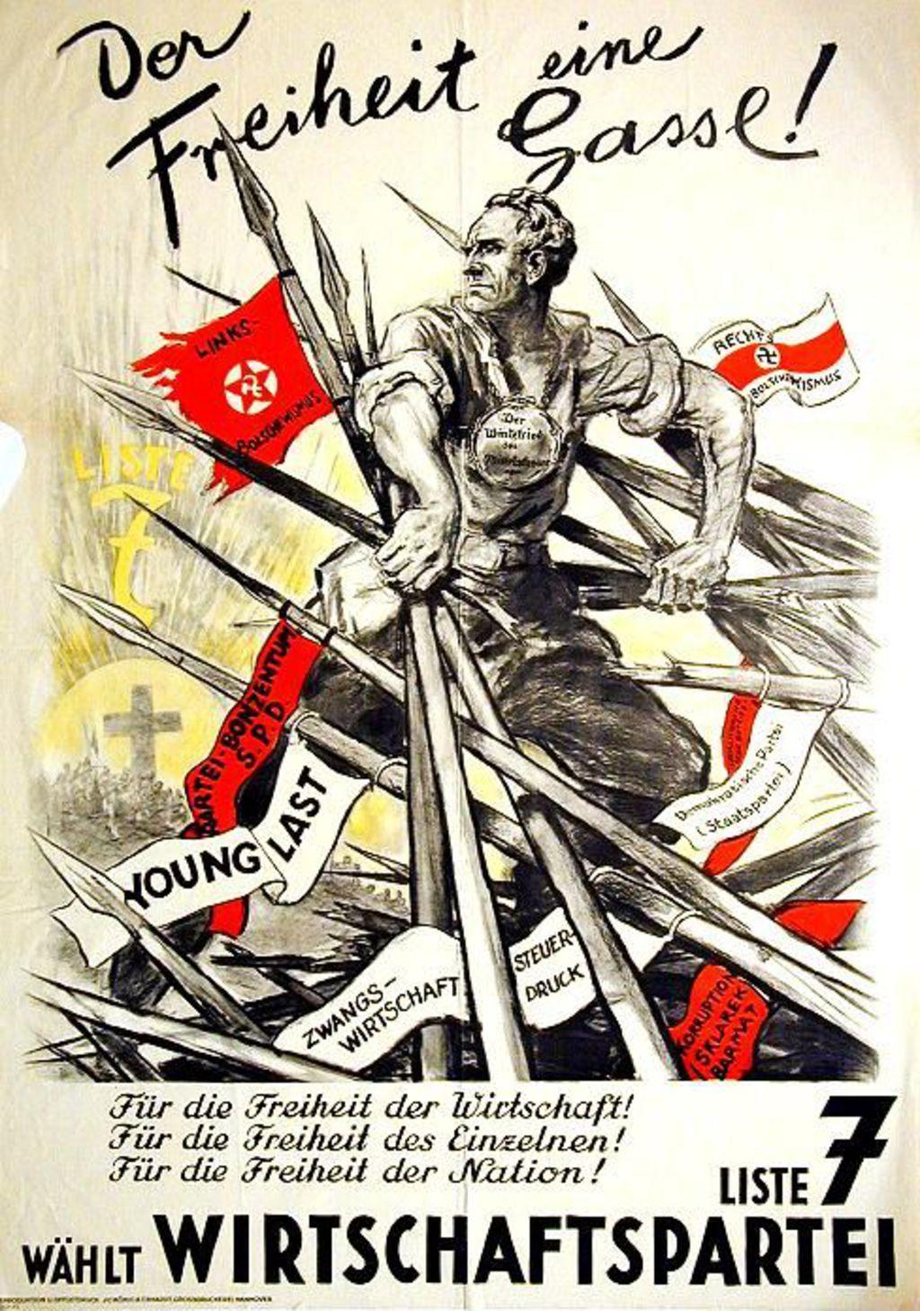 lemo bestand objekt wahlplakat der wirtschaftspartei 1930