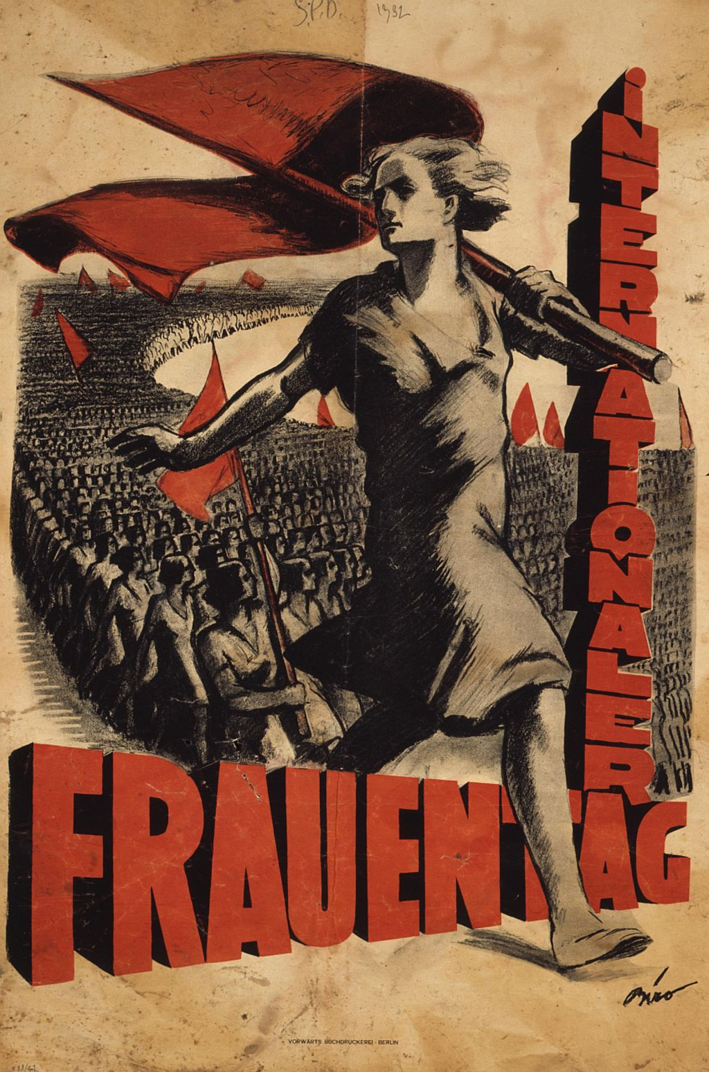 Exponat: Plakat zum Internationalen Frauentag 1932
