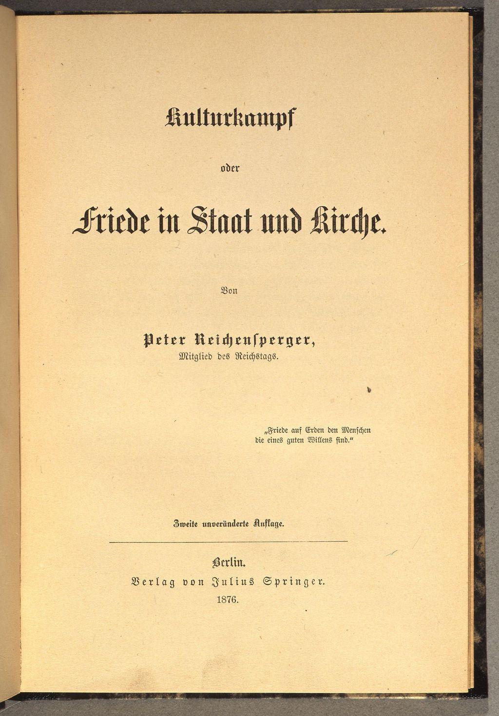 Lemo Kapitel Kaiserreich Innenpolitik Kulturkampf