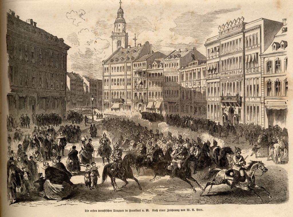 Preu ische truppen in frankfurt m 1866 for Grafiker in frankfurt
